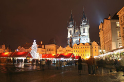 The Stone Bell House - Old Town Square in Prague - Christmas