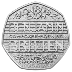 http://www.Britten100.org - BRITTEN 100 - Celebrating the centenary of Benjamin Britten in 2013 - 50p coin