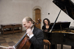 French pianist Justine Verdier and Czech cellist František Brikcius, concert CELLO AND PIANO & FIVE JUBILEES (Leoš Janáček, Josef Suk, Iša Krejčí, Antonín Dvořák, Bohuslav Martinů), Festival Brikcius - The 3rd Chamber Music Concert Series at the Stone Bell House in Prague (Year of Czech Music 2014). Photo: Alina Bogdana Mihai. http://Festival.Brikcius.com