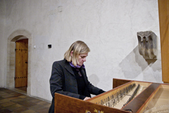 Czech organist and composer Irena Kosíková; concert J. S. BACH: CELLO SONATAS; Festival Brikcius - the 4th Chamber Music Concert Series at the Stone Bell House in Prague #Bach330. Photo: Alina Bogdana Mihai. http://Festival.Brikcius.com
