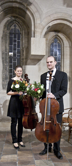 Duo Brikcius - Czech Cellist Anna Brikciusová and Czech Cellist František Brikcius; concert DUO BRIKCIUS - BAROQUE IN BLOOD / Festival Brikcius 2015 - The 4th Chamber Music Concert Series at the Stone Bell House in Prague #Bach330. Photo: Alina Bogdana Mihai. http://Festival.Brikcius.com