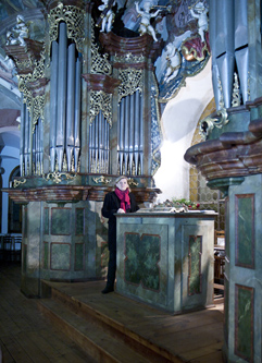 Organist and composer Irena Kosíková; organ concert GOLDBERG VARIATIONS 1741; Festival Brikcius 2015 - The 5th Chamber Music Concert Series in Prague. Photo: Alina Bogdana Mihai, http://Festival.Brikcius.com