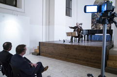 Czech cellist František Brikcius, H. E. Leon Marc & Dr. Giovanni Sciola; cello concert TARTINI: THE ART OF BOWING; Festival Brikcius - the 6th Chamber Music Concert Series in Prague 2017. Photo: Alina Bogdana Mihai, http://Festival.Brikcius.com