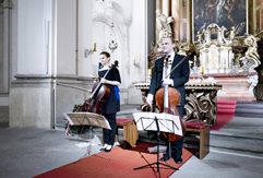 Duo Brikcius (2 Czech Cellists - 2 Siblings); Anna Brikciusová - Cello and František Brikcius - Cello; Main Chaplain Colonel Jaroslav Knichal; Cello Concert DUO BRIKCIUS & #CZECH100; Military Church of St. Jan Nepomucký Prague, Festival Brikcius - the 7th Chamber Music Concert Series in Prague 2018. Photo: Alina Bogdana Mihai; http://Festival.Brikcius.com