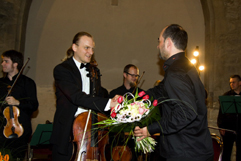 http://www.Brikcius.com - Czech Cellist František Brikcius, Jan Talich: Conductor & Talich Chamber Orchestra - Concert MAKANNA - 110th anniversary of the birth of the Jewish writer Jiří Weil (Convent of St Agnes of Bohemia in Prague, 2010, Photo Marek Malůšek).