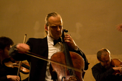 http://www.Brikcius.com - Czech Cellist František Brikcius & Talich Chamber Orchestra - Concert MAKANNA - 110th anniversary of the birth of the Jewish writer Jiří Weil (Convent of St Agnes of Bohemia in Prague, 2010, Photo Marek Malůšek).