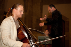 http://www.Brikcius.com - Czech Cellist František Brikcius, Jan Talich - Conductor & eSACHERe Cello Ensemble - Concert rehearsal eSACHERe - 12 composers of Swiss patron Paul Sacher (Convent of St Agnes of Bohemia in Prague, 2011, Photo Marek Malůšek).