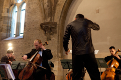 http://www.Brikcius.com - Czech Cellist František Brikcius, Jan Talich - Conductor & eSACHERe Cello Ensemble - Concert eSACHERe - 12 composers of Swiss patron Paul Sacher (Convent of St Agnes of Bohemia in Prague, 2011, Photo Marek Malůšek).